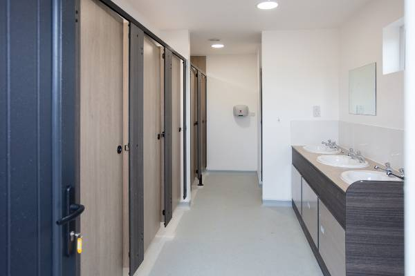 shower block for camping guest at hanworth